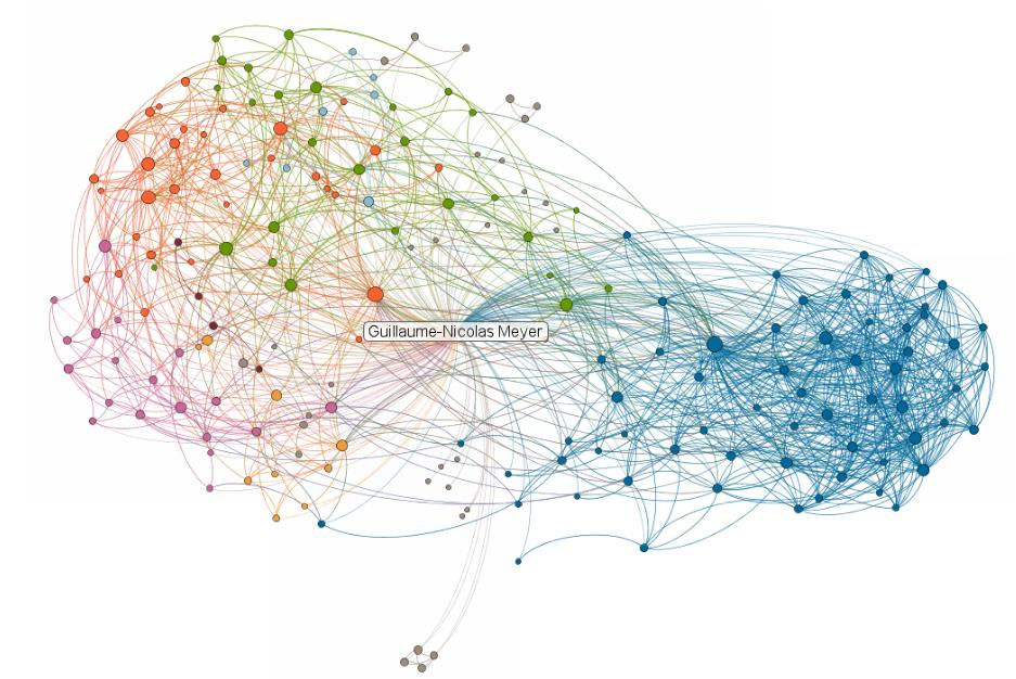 Cartographie de mes contacts linkedin 2011